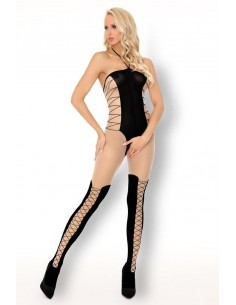 Bodystocking Pranverna Beige Nero